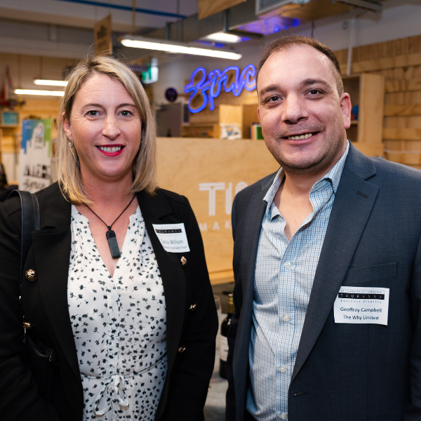 Geoffrey Campbell with Tania Wilson from Momenta at a recent BA5 event
