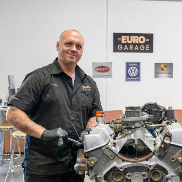 Richard Ross from Euro Garage working on an engine
