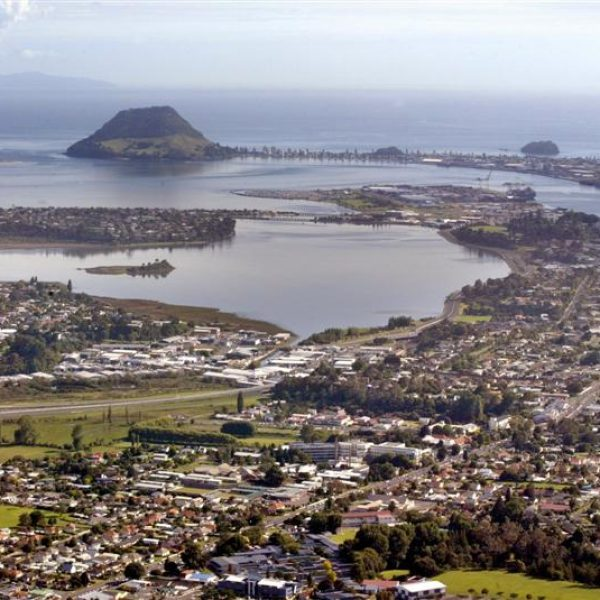 Bird's eye view for Tauranga City